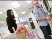 Busty tranny Madison Montag analyzed at laundry area