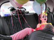 Gal in clown costume fucked by the driver for free fare