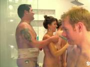 Horny couples enjoying orgy in swinger reality show