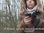 Fucking broke amateur in forest from behind