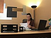 An Employer Disciplines Her Sexy Young Employee