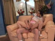 Check out this brunette, teen schoolgirl, named Amber Wild, who will give you
