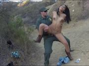 Beautiful latina rides on the hard cock of BP officer
