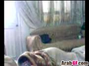 Amateur Arab girlfriend making out in bedroom