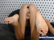 Beautiful Tgirl Toying her Pretty Ass