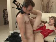 Huge boobs shemale Kylie Maria analyzed by hard man meat