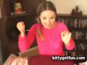 Lovely Brunette Babe Cums Over Secret Solo Session