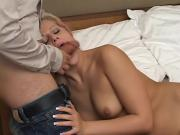 Aroused Blonde Bitch Gives Head To One Thick Cock Her Butt Gets Insanely Fucked By It