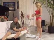 Hot blonde sits on his face