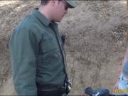 Border patrol agent fucks the border hopping redhead babe