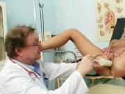 Awesome-Busted Babe Visits For Speculum Examination