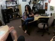 Latin babe gets pounded by pervert dude at the pawnshop