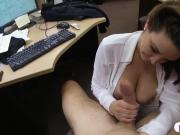 Foxy business lady pawns pussy and drilled by pawn dude