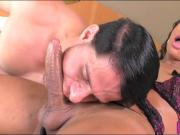 Big cock tranny gets her asshole ripped real hard and deep