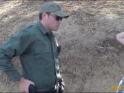 Border patrol agent fucked redhead chick at the border