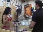 Latin brunette fucked in the ass
