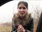 Czech babe hitchhikes and fucked hard by nasty stranger