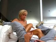blonde babe is great sex