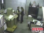 Eager Employee Busted Rubbing And Sucking Manhood In Warehouse