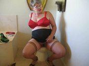 granny masterbates on toilet