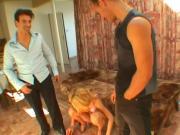 Hot Blonde Girl Gets DPed
