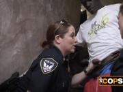 Horny MILFs are banging a black criminal they just arrested!