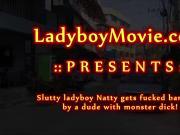 Thai Ladyboy Natty Fucked Bareback