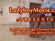 Ladyboy Bella Gets Her Ass Fucked Raw