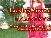 Young Ladyboy Naomi Fucked Bareback