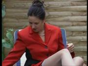 Slutty MILF Masturbates Outdoors