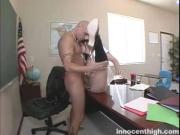 Slutty Student Sucks Cock In The Classroom
