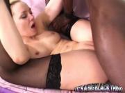 Lusty Blonde Girl Annett Schwartz Pounds Huge Black Boner