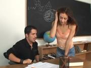 Teacher fucks his hot student