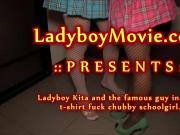 Ladyboy Kita Fucks Schoolgirl Bareback