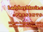 Lingerie Ladyboy Nice Jerking Off