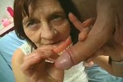 Wrinkly Granny Plays withyoung dick