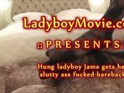 Hung Ladyboy Jame Barebacked