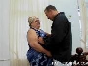 Chubby Gal Gets Her Mouth Screwed