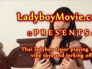 Ladyboy Opor Masturbating