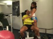 hot girl fucked in the gym