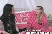 2 Babes Go Lezzy For Their Very 1st Time With A Strap-On