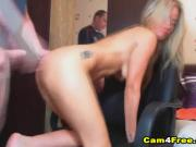 Pretty Blonde Babe Sucks And Gets Fuck Hard