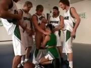 Nympho Takes On Basketball Team