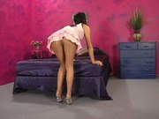 playing with dildo in pantyhose