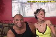 Candy Monroe Sucks Black Cock