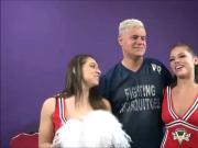 Two Cheerleaders Party Sex with Lucky Guy