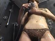 Sweet and wild MiLF toys her pussy after soaking down her pussy