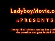 Pink Ladyboy Gets Fucked