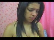 brunnete with nice body on cam