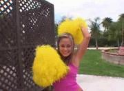 Wannabe cheerleader wants the job badly